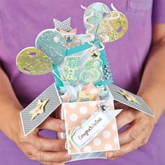 Make a 3D Exploding Box Card! Create a special something for that special someone with a fun 3D exploding box card. Clever folding means it is great for sending in the post but also still gives that WOW factor when the card is opened.