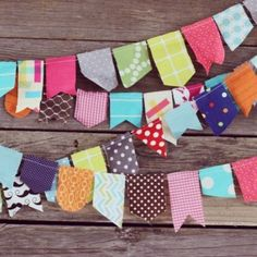 Just use scrap fabric - Cute for a baby's room :)) i like the different shapes but still prefer double sided