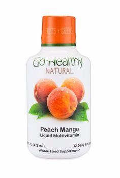 Go Healthy Natural Liquid Multivitamin with Organic Folate- 32 Servings 16 Ounce #GoHealthyNaturalMultivitamins