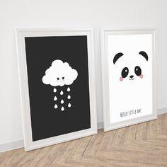 Poster panda Hello Little One A3