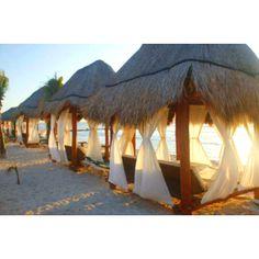 Relax in a cabana by the beach Dream Vacations, Vacation Spots, Azulik Hotel Tulum, Glamping, Camping Am Meer, Khao Lak Beach, Beach Cabana, I Love The Beach, Beach Bars