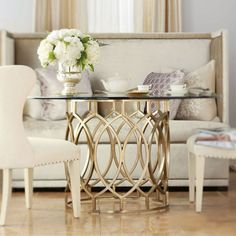 introducing the salon collection cadieux interiors ottawa ontario canada furniture glass top dining tablekitchen - Kitchen Tables Canada