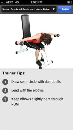 Seated Dumbbell Bent-ver Lateral Raise #shoulders #gainfitness Download the GAIN Fitness app for HD motion instructions.