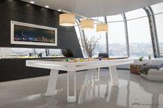 """Biliardo tavolo modello Strike: robustezza, eleganza e semplicità, realizzato su """"Piattaforma Etrusco System"""" http://www.biliardietrusco.com/prodotti/modello-strike/"""