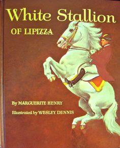 1969 White Stallion of Lipizza - Marguerite Henry - Illustrator - Wesley Dennis - Original Dust Jacket on Etsy, $13.39 CAD