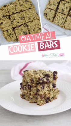 These oatmeal chocolate chip cookie bars are very healthy oatmeal cookie bars! These oatmeal chocolate chip cookie bars are very healthy oatmeal cookie bars! These bars have Gree The Oatmeal, Healthy Oatmeal Cookies, Chocolate Chip Cookie Bars, Oatmeal Cookie Recipes, Oatmeal Bars, Oatmeal Chocolate Chip Cookies, Easy Cookie Recipes, Chocolate Shop, Chocolate Fondue