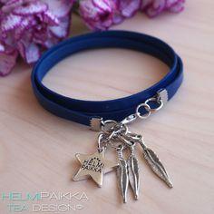 Helmipaikka Oy - Joka päivä on korupäivä - Helmipaikka. Charmed, Bracelets, Leather, Jewelry, Charm Bracelets, Bijoux, Bracelet, Jewlery, Jewels