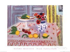 La nappe rose Posters par Henri Matisse sur AllPosters.fr