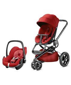 Quinny Moodd and Maxi-Cosi Pebble Travel System - Red Rumour