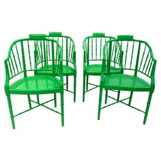 Spray paint my dining room chairs.   BAKER FAUX BAMBOO CHIPPENDALE ARM CHAIRS #huntersalley