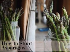 Just cut the stems and place them in a container of water. Cover with plastic and store in the fridge. You can use a rubber band to hold the...
