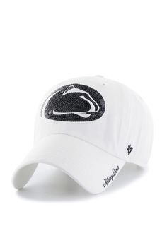 47 Penn State Nittany Lions White Sparkle Clean Up Womens Adjustable Hat 6011b34e55f8