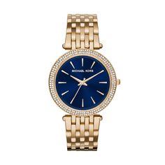 Michael Kors Darci Gold-Tone Stainless Steel Ladies Crystal Watch