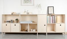 Norway exhibition for London Design Festival 2015 Modular Furniture, Plywood Furniture, Contemporary Furniture, Furniture Design, Living Room Bookcase, Low Bookcase, Bookcases, Norwegian Design, London Design Festival
