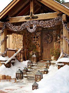 Holiday rustic porch