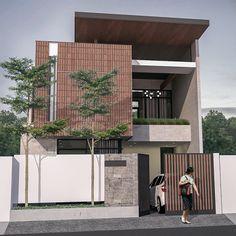 Minimalist Architecture, Modern Architecture House, Facade Architecture, House Front Design, Small House Design, Cool House Designs, Minimal House Design, Home Building Design, Modern Farmhouse Exterior