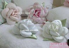 Blog de andreiabrasillartesanato : Artesanatos em geral, almofadas de flor passo a passo