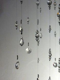 Medium: Clear Swarovski Crystal Chandelier Mobile
