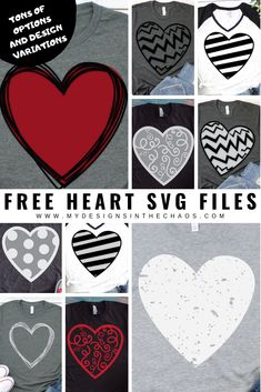 These free heart SVG files are easy to use with your SIlhouette or Cricut cutting machine. : These free heart SVG files are easy to use with your SIlhouette or Cricut cutting machine. Cricut Vinyl, Svg Files For Cricut, Cricut Craft, Cricut Air, Cricut Fonts, Freebies, Silhouette Cameo Projects, Cricut Creations, Vinyl Projects