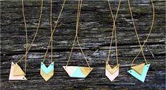 Výsledek obrázku pro felt geometric jewelry