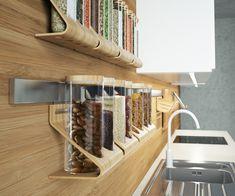 Bamboe kruidenrek aan de wand - Ikea Rimforsa serie