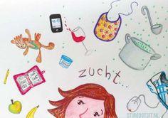 Illustratie 'DRUKDRUKDRUK' door #StudioStift