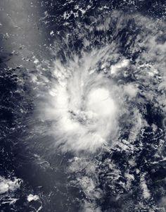 Tropical Storm Nine (09W) over Guam