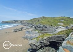 Trebarwith Strand near Tintagel on the north coast of Cornwall