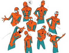"""Drawing Marvel Comics Embedded image - """"drawing the fave again"""" Spiderman Poses, Spiderman Kunst, All Spiderman, Amazing Spiderman, Spiderman Sketches, Marvel Comics, Marvel Art, Marvel Heroes, Marvel Avengers"""