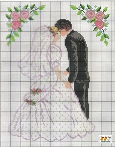 Wedding cross stitch.