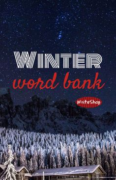Brrrr! A winter word bank! - WriteShop