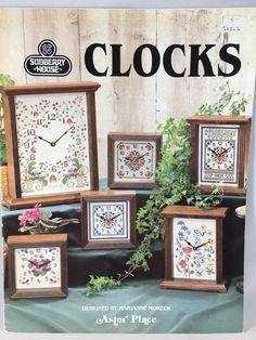 Vintage Cross Stitch Chart SUDBERRY HOUSE CLOCKS ASTOR PLACE 1983 5 Designs | Crafts, Needlecrafts & Yarn, Embroidery & Cross Stitch | eBay!