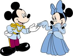 Photo of Minnie & Mickey as Cinderella & Charming for fans of Disney Princess.