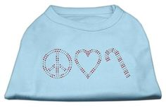 Peace, Love, and Candy Canes Shirts Baby Blue XS (8)