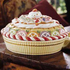 Fitz and Floyd Nutcracker Sweets Pie Keeper - wonderful holiday dish