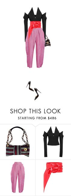 """Untitled #3019"" by fafefysfofu ❤ liked on Polyvore featuring Lanvin, Yves Saint Laurent, Gucci, Balenciaga and Christian Louboutin"