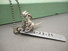 T Rex Dinosaur Jewelry Jurassic Park by OrganicRustCreation