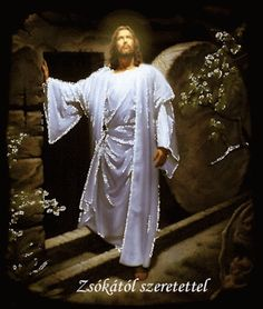 See Image of Jesus in a white suit in a rock building with movement and brightness next to the phrase: Jesus Christ is alive! Jesus Our Savior, Jesus Art, God Jesus, Baby Jesus, Image Jesus, Pictures Of Jesus Christ, Jesus Wallpaper, Jesus Christus, Divine Mercy