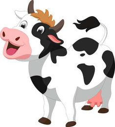 Illustration of cute cow cartoon vector art, clipart and stock vectors. Cartoon Kunst, Cartoon Drawings, Cartoon Art, Cute Drawings, Cute Cartoon, Popsicle Stick Crafts, Craft Stick Crafts, Cow Baby Showers, Farm Themed Party