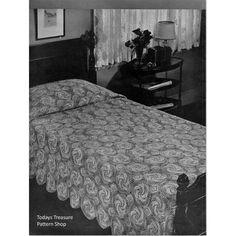 Windmill Crochet Bedspread Pattern | Todays Treasure Pattern Shop