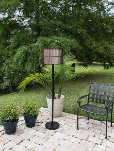 Kenroy Home Bora Outdoor Floor Lamp, Bronze Finish Outdoor Floor Lamps, Outdoor Flooring, Outdoor Decor, Bronze Floor Lamp, Bamboo Shades, Bronze Finish, Outdoor Furniture Sets, Bulb, Home Decor