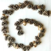 This 6 foot austriaca pine cone garland come with 8 cinnamon stick bundles. They are perfect pine cones to decorate a fireplace mantel, door, or counter top that needs a decorative touch. You can also get a longer and continuous 12 foot austriaca pine cone garland for those areas that require a longer garland.