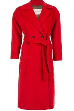 American Vintage |  Long-length coat Chicago | red