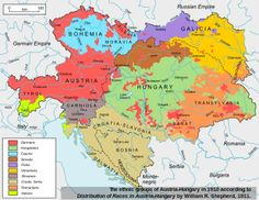 linguistic groups in the Austrian Empire, 1910 #map #history