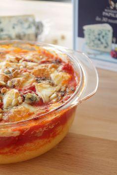 Gratin de polenta et tomate, roquefort et pignons de pin - livre Roquefort les 30 recettes cultes
