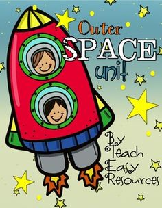 Explore outer space with your Preschool or Kindergarten kiddos with this set of 10 unique activities!  This unit contains over 50 pages of art, math, and literacy projects, games, and stories! It includes:1.  Magnet/Felt Board Song and Images     - Five Rocket Ships Went Flying2.