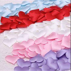 Barato! 50 unids/lote Corazón tela 2 cm Del Banquete de Boda Del Confeti de la Tabla de Decoración de la fiesta de cumpleaños Suministros de Decoración