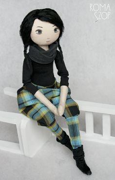 Diana – roma muzyczna, handmade doll by romaszop