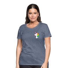 Geschenke Shop | Einhorn - Frauen Premium T-Shirt Army Shirts, Funny Tee Shirts, Cool T Shirts, Military Tshirts, Funny Military, Pride Shirts, T Shirt Designs, Wimbledon, Heather Grey