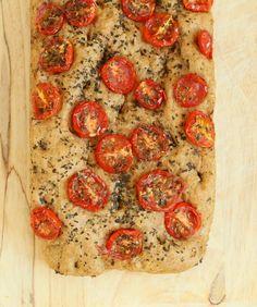 100% Whole Grain Tomato Basil Focaccia. Vegan Recipe   Vegan Richa